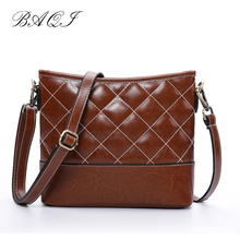 BAQI Shoulder Bags Women Handbags 2019 Fashion Genuine Cow Leather Luxury Designer Women Messenger Bag Crossbody Bag Lady Girls