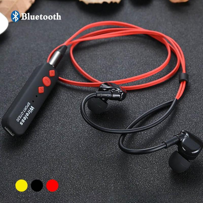 New Wireless ear music running sports Bluetooth headset 4.2 universal ear ear lapel-style stereo support car audio,home speaker  wireless music bluetooth headset 4 mini head wear sport ear hanging ear type 4 1 universal running stereo can insert card radio