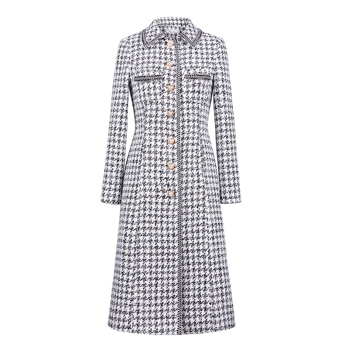 a2706a605 Women Winter Warm Woolen Long Coat Female Single Breasted Plaid Gray Wool  Coat Jackets Lady Casual Outwear Plus Size Talever-in Wool & Blends from  Women's ...