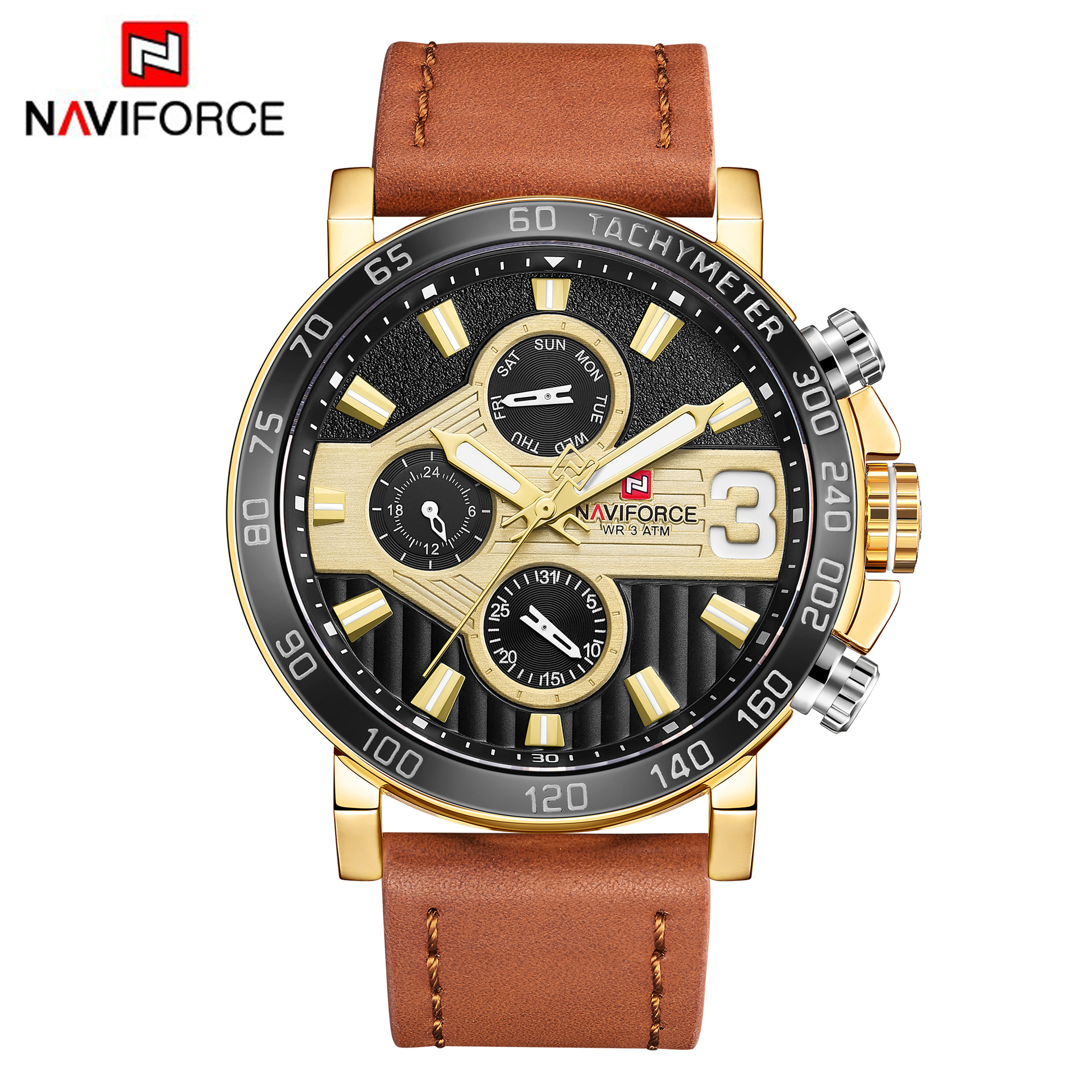 NAVIFORCE Men Sport Watches Men's Quartz Clock Man Army Military automatic Leather Wrist Watch Relogio Masculino montre homme portable folding 5v 15w double usb port solar charger mobile phone power mp3 mp4 gps camera game solar panels outdoor charging