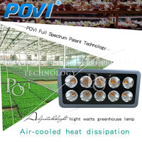 POVI 500W IP65 waterproof greenhouse led grow light custom made spectrum for greenhouse plant and gardens specially