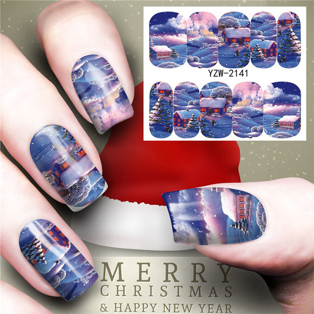 Aliexpress Buy Twilight Christmas Hristmas Tree Nail Sticker