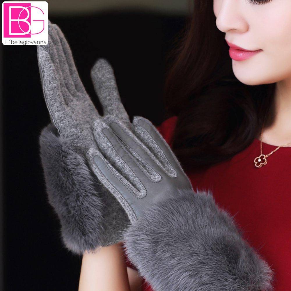 Driving gloves wholesale - Christmas Gift Winter Spring Fashion Winter Sheepskin Gloves Top Lambskin Solid Real Genuine Leather Women Wrist