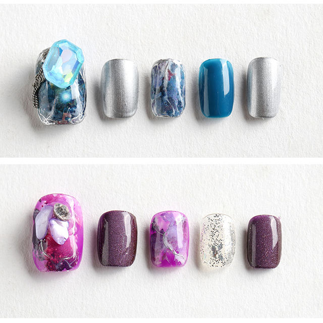 Nail Foils Shining Psychedelic Sky Series Colorful Nail Art Transfer Stickers Decals Nail Design Decorations Accessories Tips