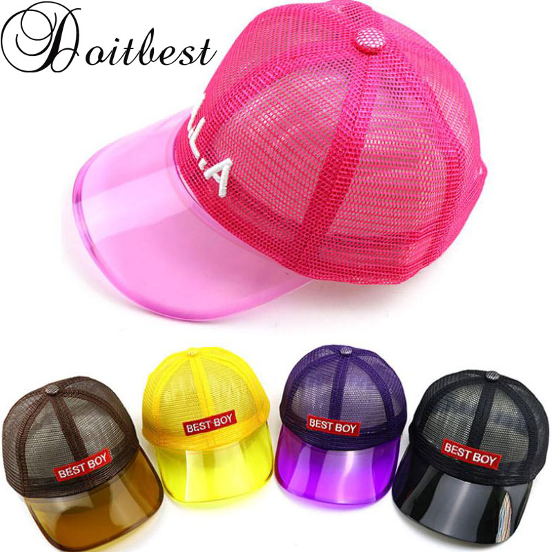 Doitbest 2 To 6 Years Old 2019 Child Baseball Cap Hip Hop Kids Sun Hat PVC Brim Top Mesh Best Boys Girls Caps Snapback Hats