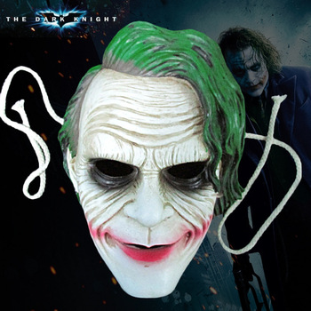 Halloween Gift Batman Dark Knight Movie Theme Cosplay Masquerade Ghoul Scary Ghost Skull Party Home Decoration Resin Mask