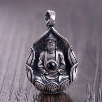 HFANCYW New Buddhist Six Words Lotus Guanyin Pure 999 Silver Pendant for Fashion Women Jewelry Wholesale - DISCOUNT ITEM  0% OFF All Category