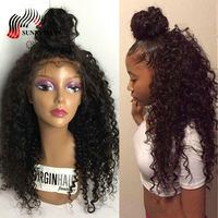 Sunnymay Indian Curly Full Lace Human Hair Wigs With Baby Hair Bleached Knots Pre Plucked Human Hair Lace Wigs