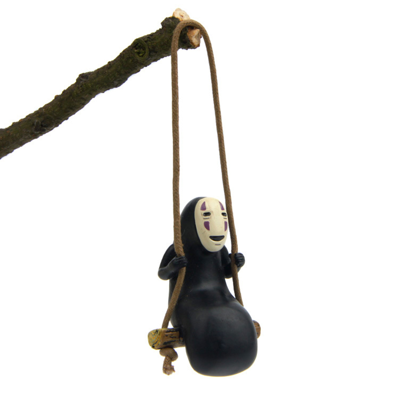 1pcs Studio Ghibli Spirited Away No Face Man Figures Toys Miyazaki Hayao Swing No Face Man Action Figure Model Toys Decoration(China)