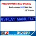Синий цвет из светодиодов табло 41 * 9 дюйм(ов) рекламной вывески легко установить прокрутки сообщения из светодиодов экраны китай индивидуальные