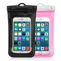 2PCS Pink/ Black Universal Waterproof Case Dry Bag Dustproof for Apple iPhone 6S Plus, Plastic Case for Cellphone up to 6 inch