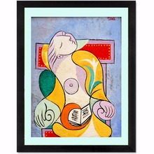 Reading Woman Picasso Canvas Art Print Quote Poster Wall Pictures For Home Decoration Decor No Frame