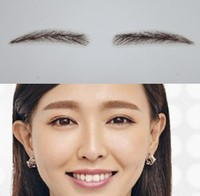 We Only Sell Top Quality Human Hair Eyebrow Handtied Eyebrow Invisible Lace Net Eyebrow Three Dimensional