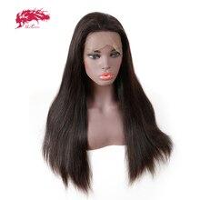 360 парик с фронтальной шнуровкой, предварительно выщипанные волосы, 180% плотность, Ali queen, Продукты для волос, Remy, бразильские прямые человеческие волосы, парик