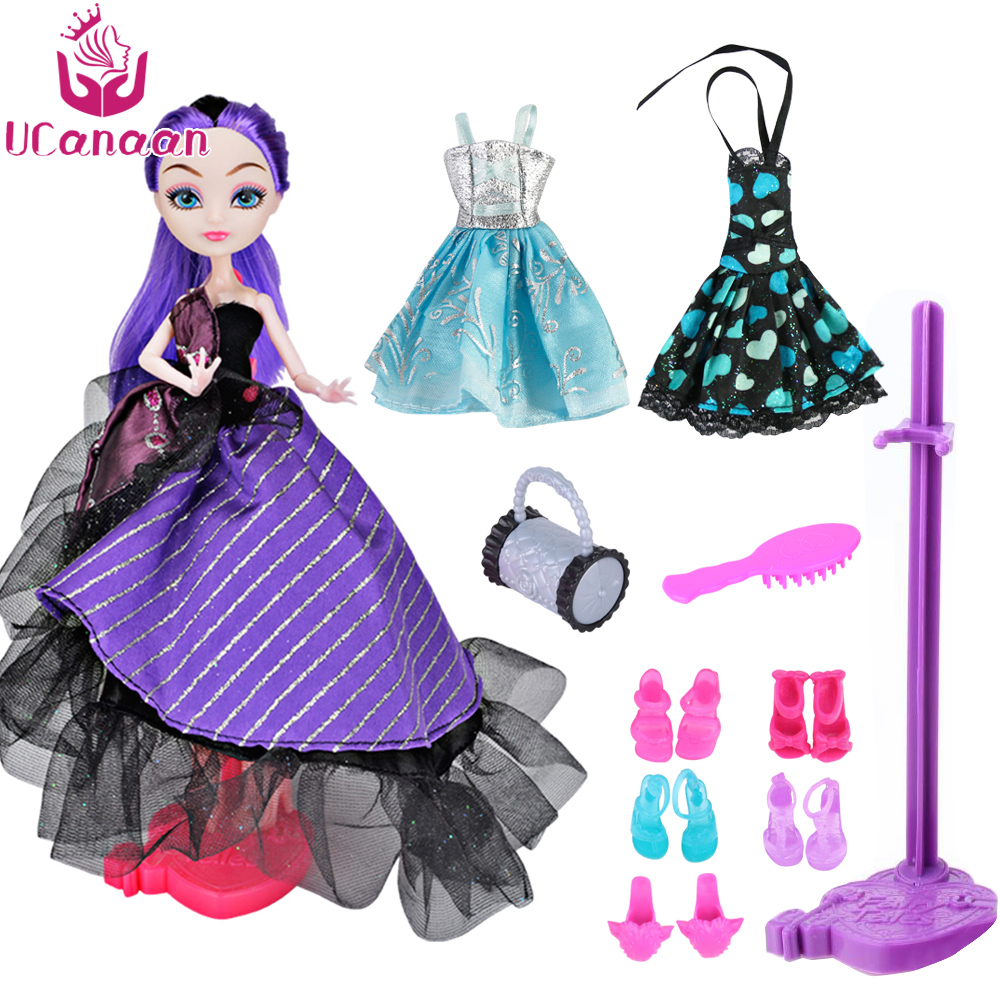 UCanaan Doll Ever After High Toys Apple White Madeline Hatter Raven Quee Joint Body Accessories for Barbie Doll DIY кукла ever after high страна чудес madeline hatter 26 см cjf39 cjf40