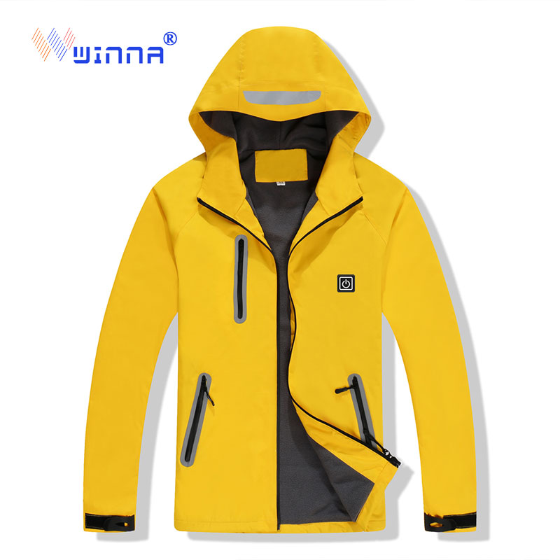 NEW Winter Thermal Heated Jacket Outdoor Sport Skiing Camping Windproof Waterproof Jacket Women Men USB Charging Heating Jacket