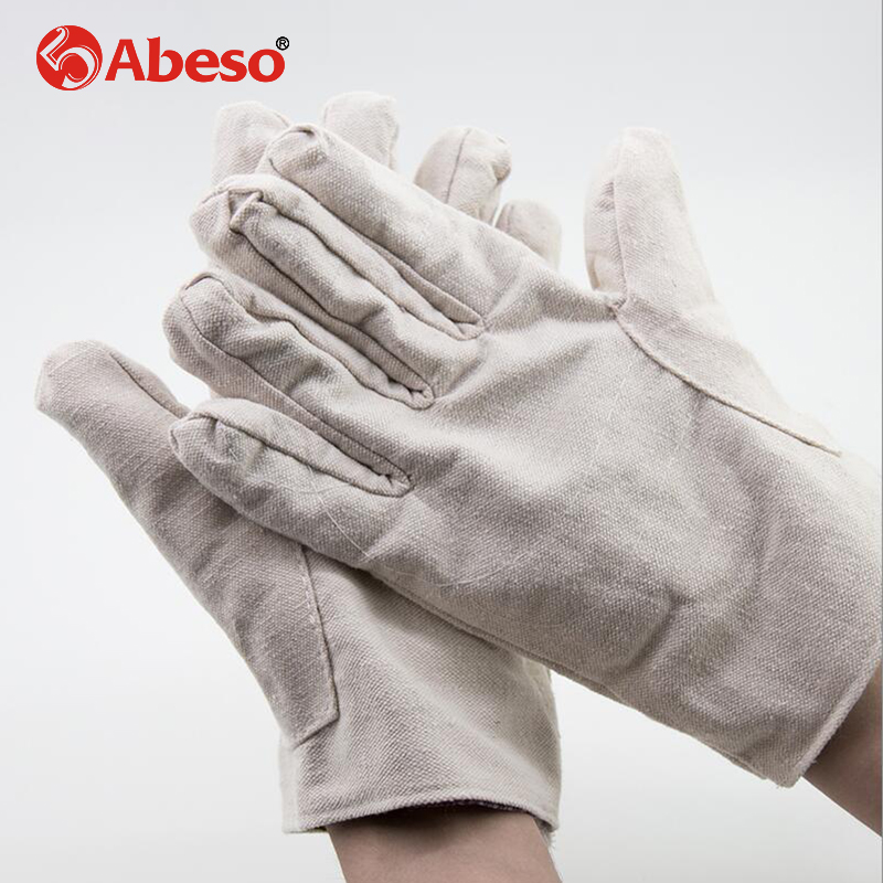 Abeso Double Canvas Gloves Labor supplies thickening Industrial work protection Labor insurance Wholesale welding Gloves A7005