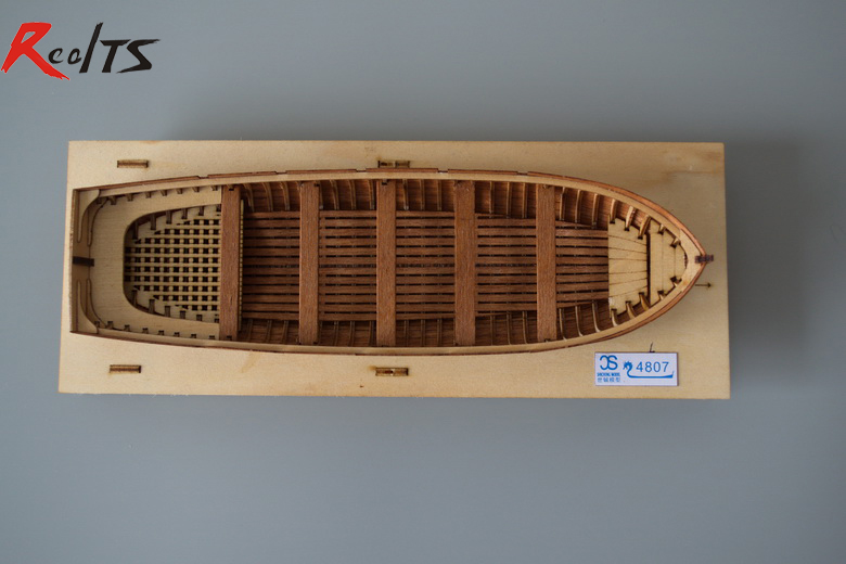 RealTS Classic wooden boat 1/48 lifeboat wooden boat assemble kit wooden puzzle