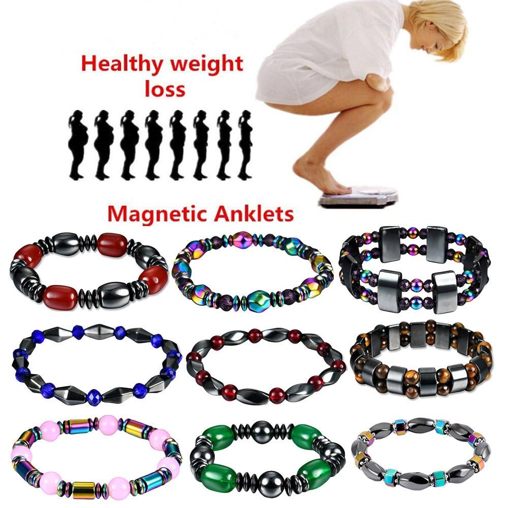 1Pcs font b Weight b font font b Loss b font Stone Magnetic Therapy Slimming Bracelets