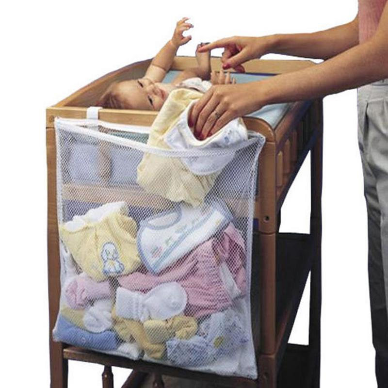 Baby Bed Hanging Bag Crib Toy Diaper Pocket For Cradle Bedding Large-Capacity Hanging Bag image