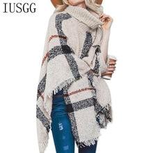 Trendy Fashion Shawl Scarf 2019 New Irregular Lattic Pullover Poncho Winter Warm Tassel Shawl Knitted Cape Sweater Turtleneck To цена 2017