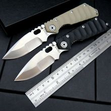 Newest ST-2 Knives Tactical Survival Folding Pocket Knife Stonewashed 5Cr13MOV 56HRC Blade G10 Handle Camping hunting Tool