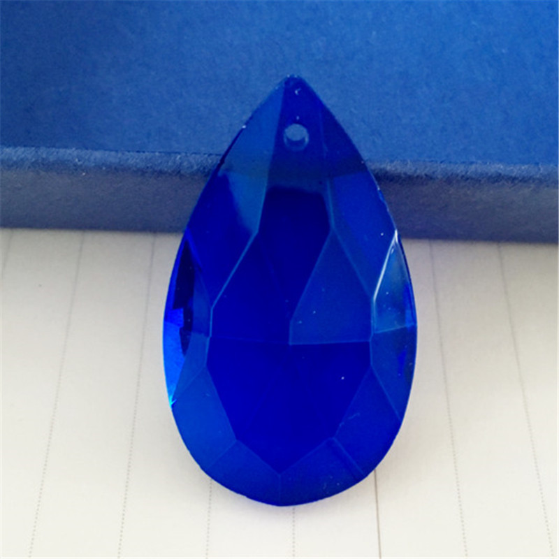 完璧な 50 ミリメートル 40 個クリスタルアーモンドペンダントダークブルーガラス照明家の装飾のため Suncatchers シャンデリアプリズムペンダント  グループ上の ライト & 照明 からの シャンデリア クリスタル の中 1