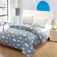 Modern simple style Spring Boys gray White clouds Bedding 100 Cotton Cute kind off kids child