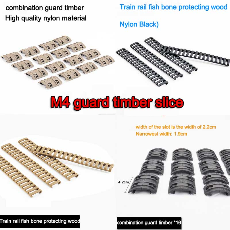 Jinming 8 generation M4 nylon tactical XTM protective wood chips scar toys water bomb refit fishbone guideway Assemble suite
