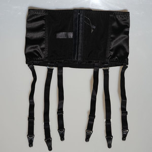 Image 5 - Liga de satén cinturón con correas anchas extraíbles, hebilla de Metal/Clips, Sexy, tirantes para medias, entrenador de cintura, lencería Sexy S507B