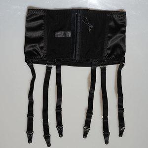 Image 5 - Satin Garter Belt Removable Wide Straps Metal Buckles/Clips Sexy Suspender Belt for Stocking Waist Trainer Sexy Lingerie S507B
