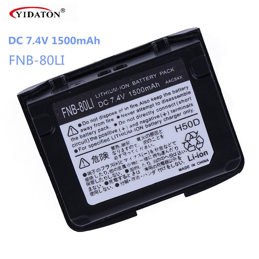 Για FNB-80LI Μπαταρία 7.4V 1500mAh LITHIUM για YAESU Δύο Way ραδιόφωνο για VX-5R VX-6R VX-7R VX-6E Walkie Talkie