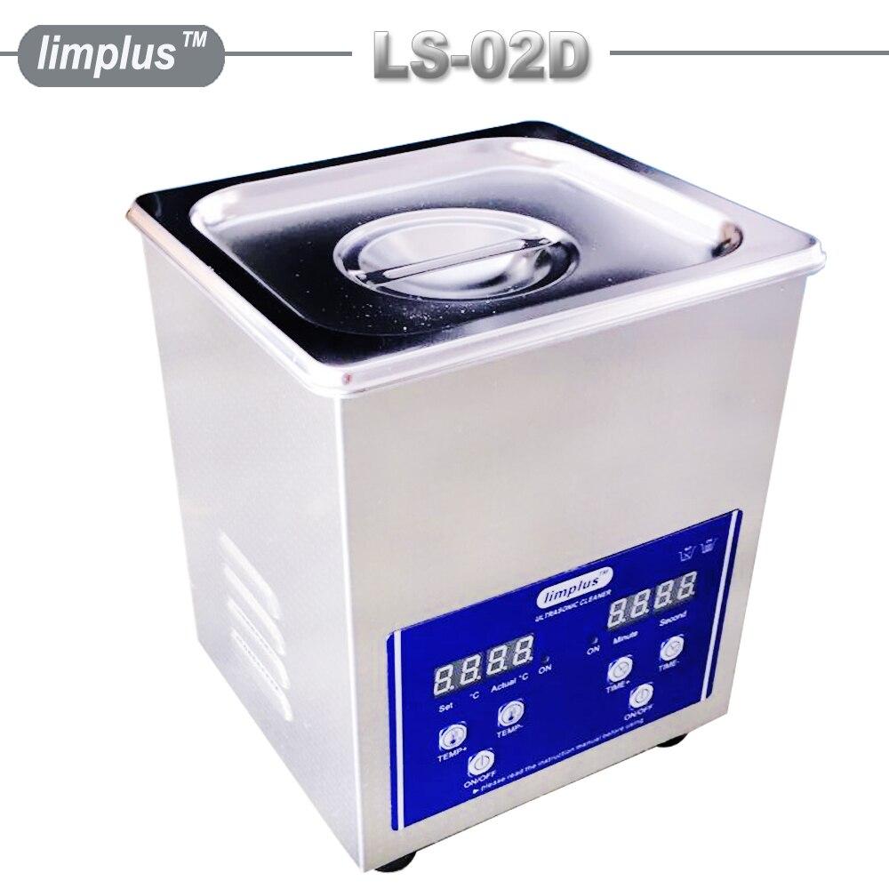 Limplus 2L Domésticos Limpeza Ultra-sônica Banheira Inoxidável caixa do Filtro Do Tanque de Tinta Limpo com Aquecedor Digital de