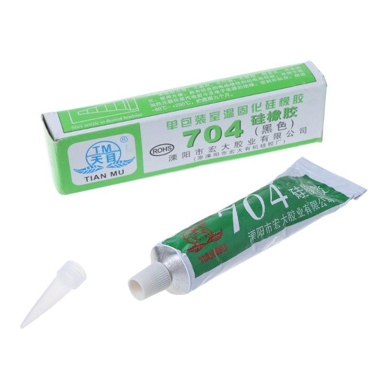 Silicone Industrial Adhesive 704 RTV Silicone Rubber Black Glue 45g