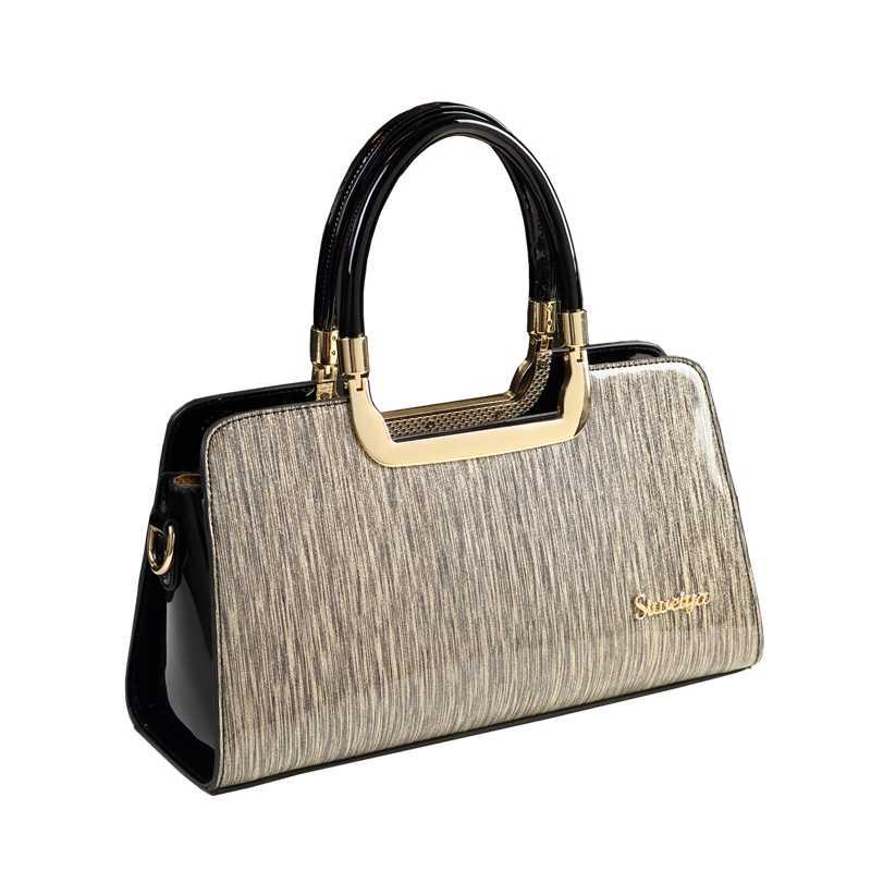 35e864491156 ICEV новый простой в полоску высокое качество лакированная кожа сумки для  женщин известных брендов Организатор кожаные