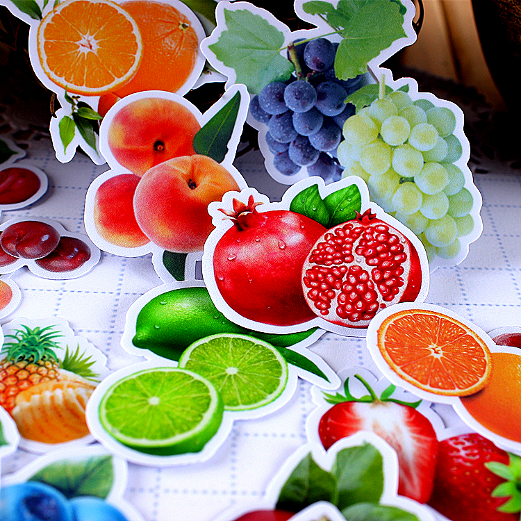 26pcs Creative Kawaii Self-made Fruits Articles Scrapbooking Stickers /decorative Sticker /DIY Craft Photo Albums