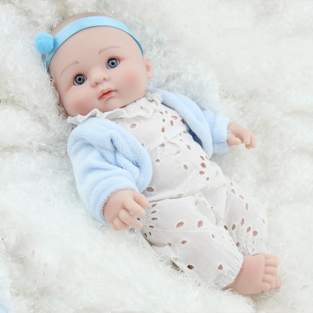 Newborn Bedtime Us 26 09 13 Off 25cm Full Body Silicone Reborn Baby Doll Toy Mini Newborn Babies Doll Bedtime Play House Bathe Toy Birthday Gift In Dolls From Toys