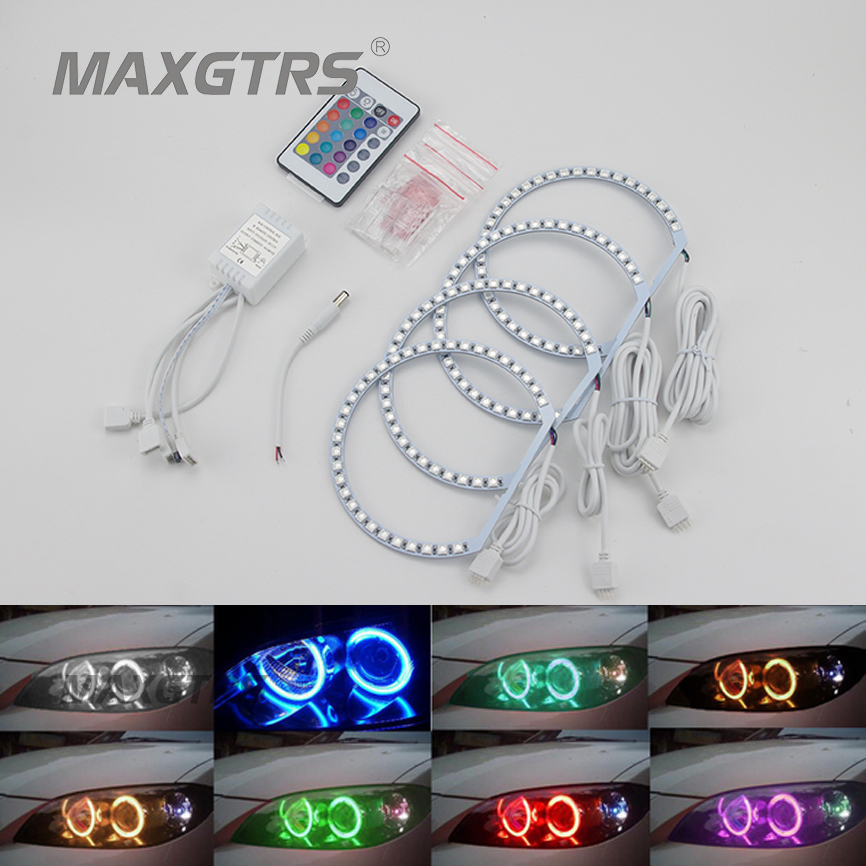4X 131mm RGB Multi-Color 5050 132Smd Flash LED