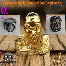 Men's stainless steel ring   Buddha ring     Guan Gong Avatar Ring    Buddhist Great Weide King Kong Ring mozart the statue of guan gong enshrines the god the sword lifts guan gong guan yu guan er ye wu caishen lucky ornaments