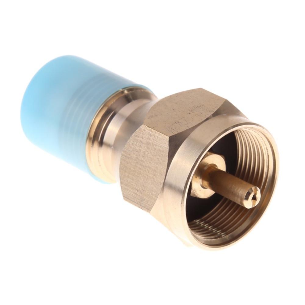 Outdoor Copper Propane Refill Adapter Gas Cylinder Tank Coupler Heater Bottles L