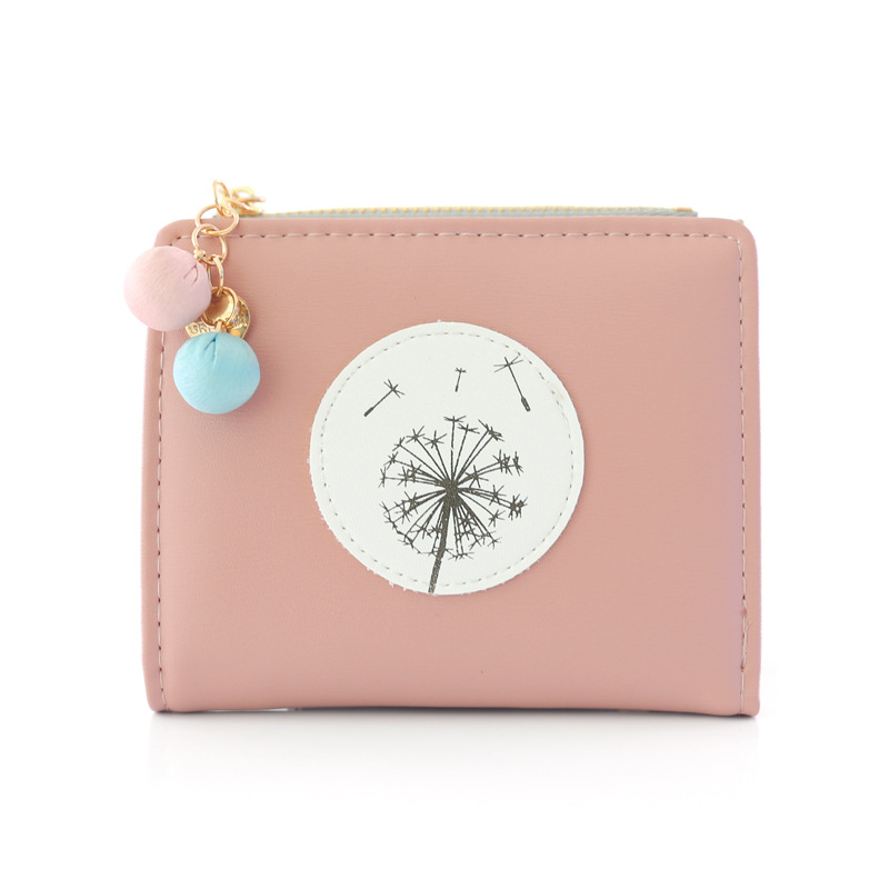 Lovely Ladies Zipper Hasp Purse Small Change Card Holders Simple Fashion Women Female Short PU Leather Wallet  Popular fashion wallet women simple short wallets hasp coin purse credit card holders handbag carteira feminina portefeuille femme