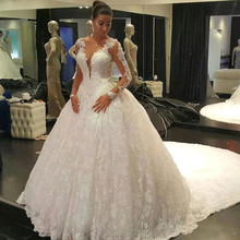 Baroque Summer Wedding Dresses 2019 Ball Gown Long Sleeves