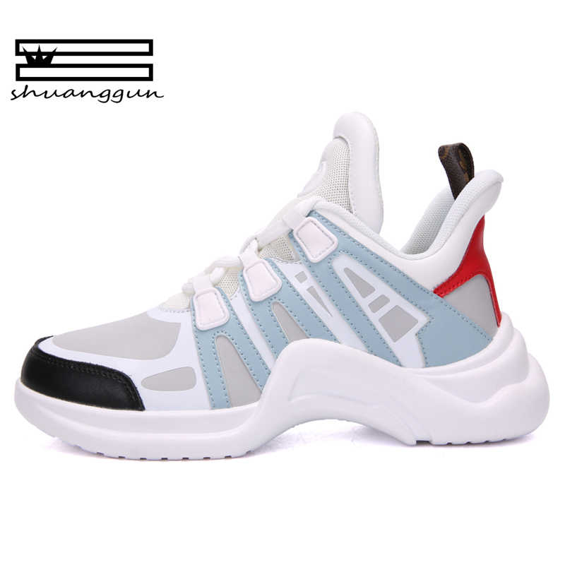 2018 Shoes White Shoe Women Fashion Brand Retro Platform Sneaker Lady  Autumn footwear Black Breathable chaussure 834e68efe77b