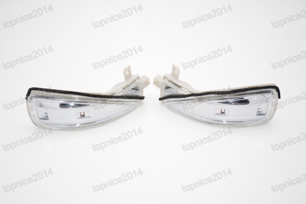 1 Pair Rear View Side mirror Indicator Turn Signal Lamps Lights Set for Mazda 6 2.0L 2008 1 psc left side mirror indicator light turn signal lamp for mazda 6 2 0l 2008