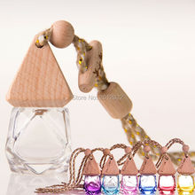 Car-styling automobile Rearview mirror Pendant Car perfume Empty bottle hanging Exquisite decoration profumo auto parfum voiture
