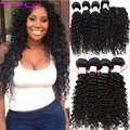 Peruvian Deep Wave With Closure 3 or 4 Bundles Peruvian Virgin Hair With Closure 7a Peruvian Curly Hair Human Hair With Closure
