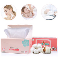 LAMEILA 100PCS Organic Facial Tissue Cosmetic Cotton Pads Plus Size Facial Cleaning Pad Makeup Remover Wipes
