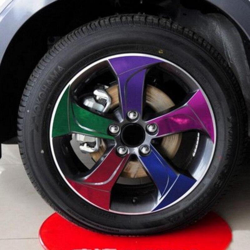 Tonlinker 1 шт. на 4 колеса DIY автомобиль стиль 17 дюймов Углеродные, для колес волокна Защитный чехол наклейки для Honda vezel HRV - Название цвета: F models