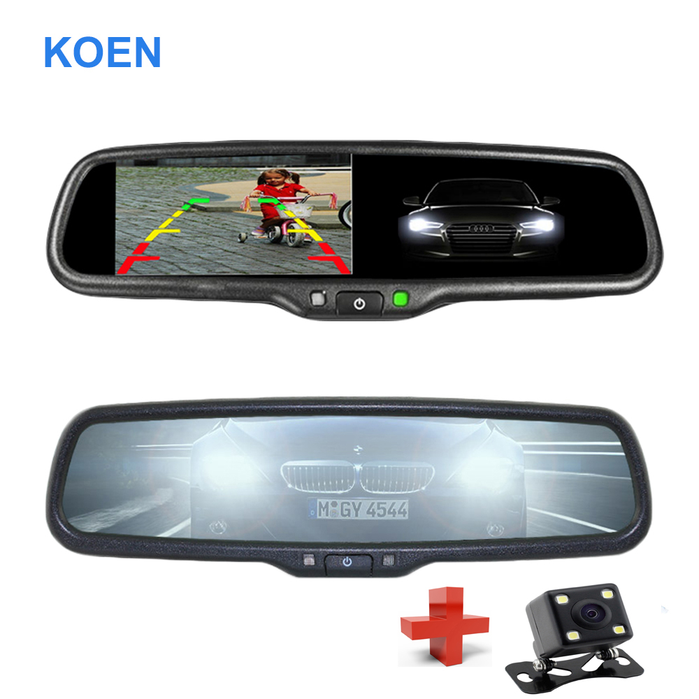 4.3 TFT LCD Electronic Auto Dimming Rear View Mirror Car Rear View Rearview Mirror Monitor 1000CD/M2 monitor Special Bracket