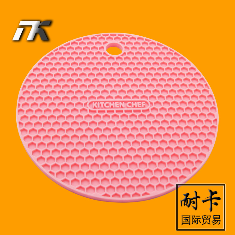 Heat Resistant Mat For Dining Table 4PCS Silicone Round Trivet Table Heat Resistant Mat Cup Coaster ...